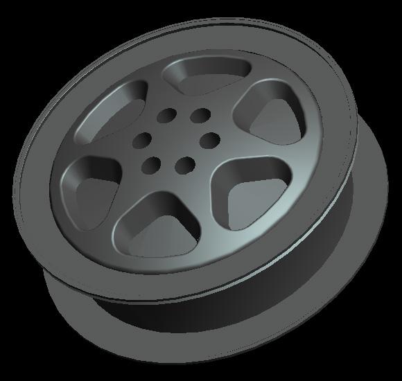 Pro/E 案例下载 汽车轮毂