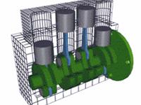 汽车直列式发动机原理图