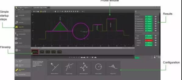 康耐视In-Sight激光轮廓仪 实现工件尺寸测量