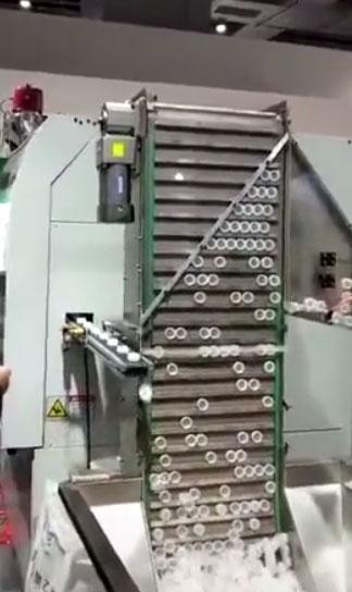 圆柱形物料提升机 下料自动整理排列