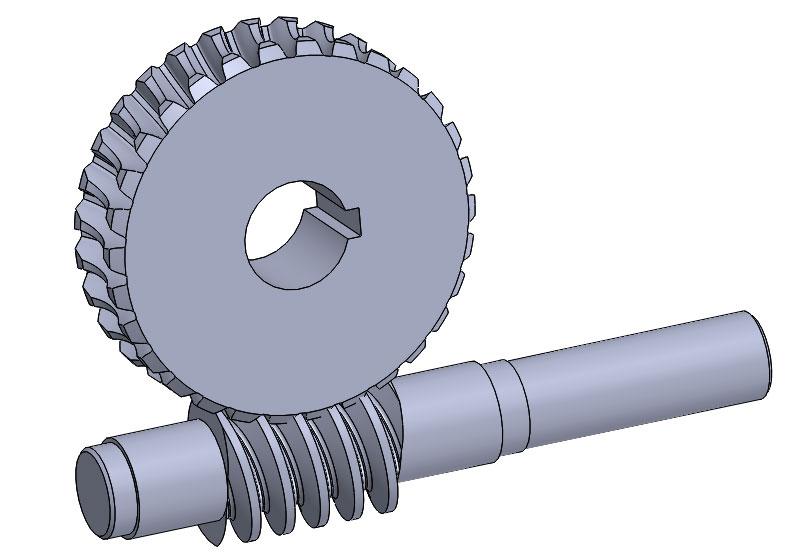 涡轮蜗杆传动3D图源文件