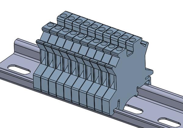 接线端子排 SolidWorks 3D源文件