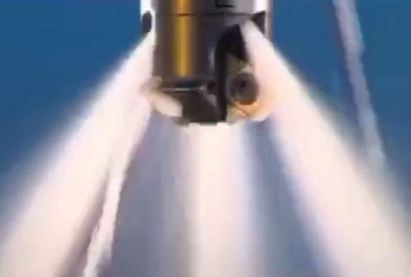 内螺纹铣刀加工视频 高压水断屑