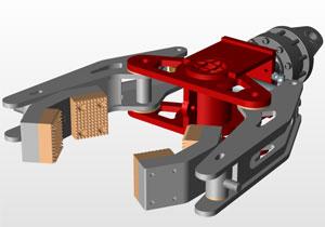 气动软关节手爪 软连接自适应工件 SolidWorks