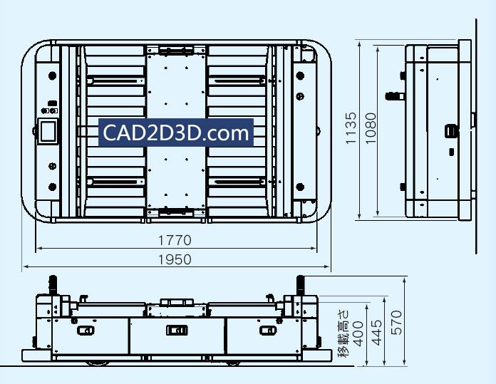 AGV小车 详细参数(负载、速度、定位精度)日本明电舍
