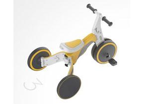 依靠两个车轮分离组合实现三轮车和两轮车的转换