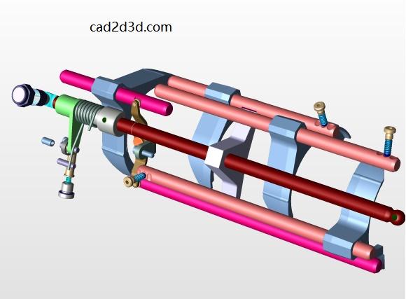 汽车6速手动变速箱STEP通用格式3D源文件免费下载