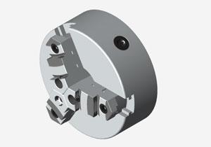手动三爪卡盘3D源文件igs通用格式免费下载
