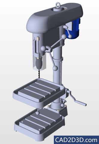 台钻手工钻3D下载 SolidWorks格式