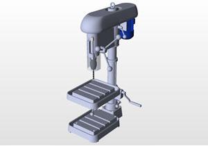 台钻手工钻3D源文件 SolidWorks格式免费下载