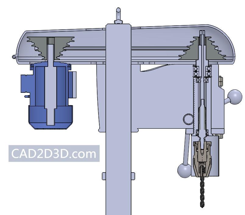 台钻手工钻3D下载 SolidWorks格式免费下载