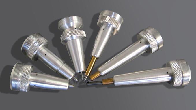金属工件点阵气动打标解决方案 :微冲打标机(泰尼福)