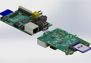电路板电子零部件(电阻、电容、USB、网口、SD卡槽、接插件等)三维模型SolidWorks源文件免费下载