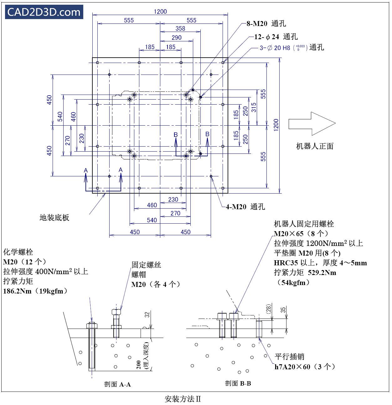 FANUC R-2000iC 系列机器人安装方法及要求