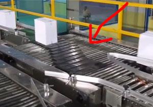滑块分拣输送机(多个输出方向)结构原理(视频)