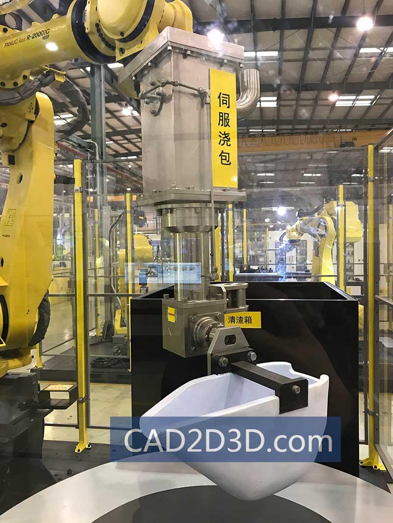 机器人自动化铝合金浇注生产线问题点及注意事项