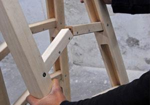 关节可折叠梯子内部结构及原理(多连杆机构)