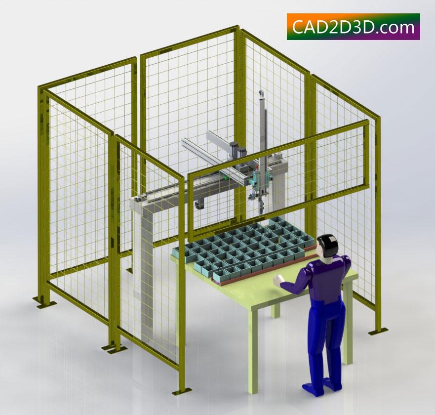 零件库机械手自动供料系统的设计与开发
