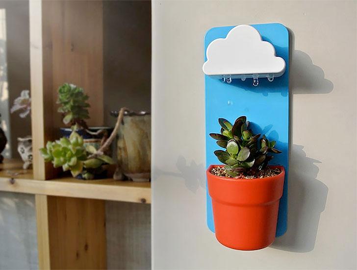 自动滴水浇花的云朵形状的水壶