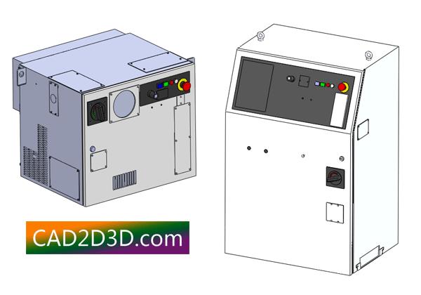 发那科机器人控制 FANUC R30iB-A柜和B柜 STEP格式 3D模型免费下载
