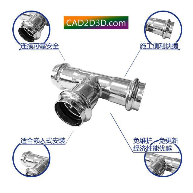 不锈钢管卡套式连接和卡压式连接 内部结构原理