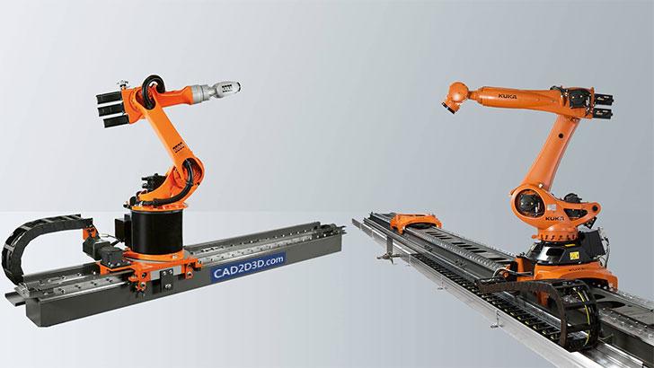 库卡(KUKA)机器人线性滑轨(地轨、导轨)规格型号及配置(定位精度± 0.02)