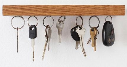 置物架里隐藏式磁铁吸盘 用来挂钥匙非常好