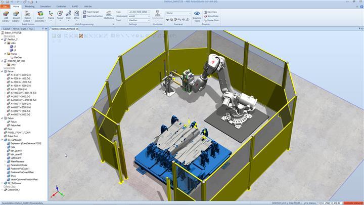 ABB 机器人仿真软件 离线编程软件 RobotStudio(RobotWare)