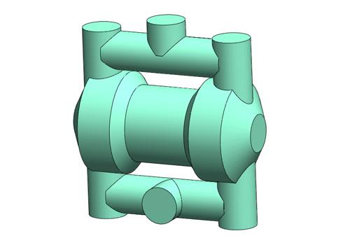 气动隔膜泵3D三维模型免费下载 SolidWorks 源文件及step格式