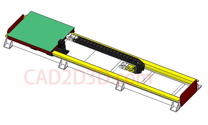 机器人地轨(行走轴)3D模型 SolidWorks 源文件免费下载 含step 通用格式