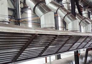浇注现场管道除尘除气管道装置