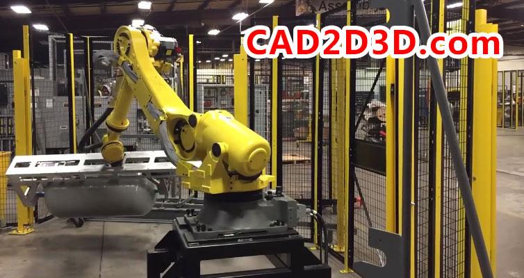 机器人利用运动控制和在线追踪功能实现的工件自动挂链