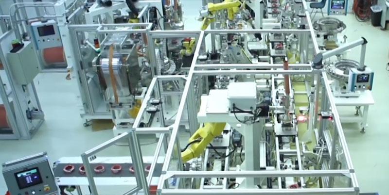 国外机器人装配全自动生产线