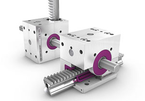 齿轮齿条和导轨滑块集成在一起,功能二合一形成新模组,再也不用分别选型安装了