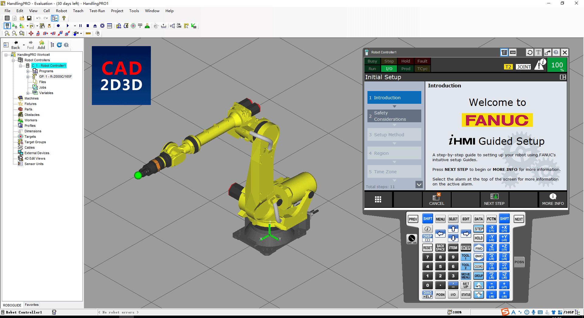 发那科FANUC机器人 ROBOGUIDE 仿真模拟软件操作手册
