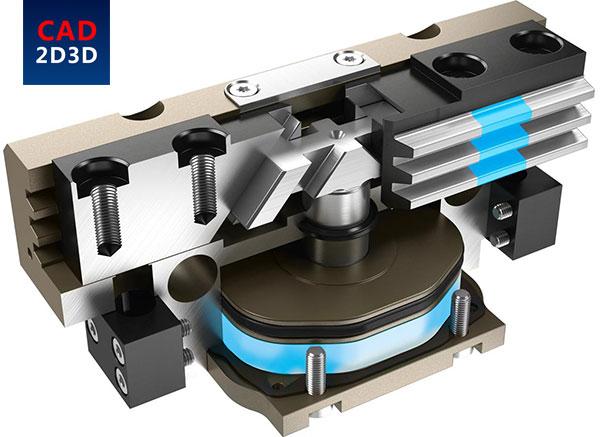 同步开合平行气缸(卡爪)内部构造大全,齿轮齿条、双齿轮、连杆机构、导向槽滑块式