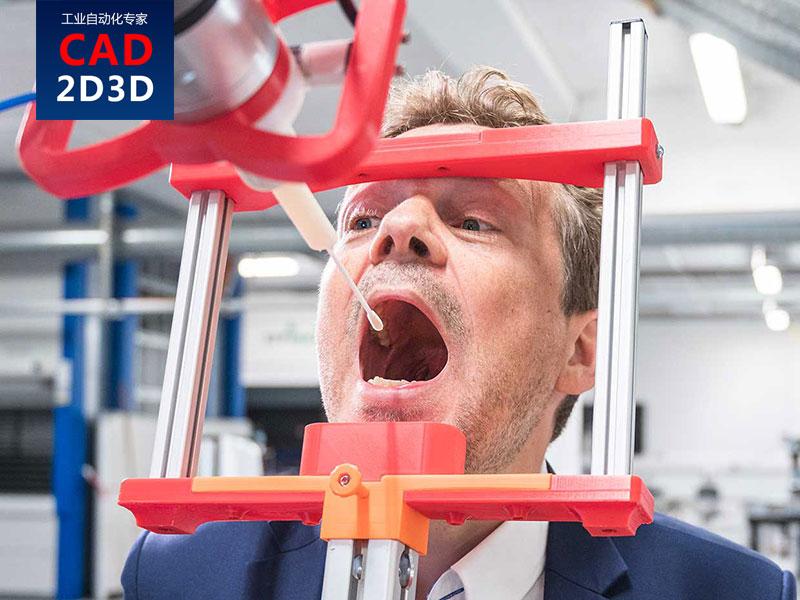 有点疯狂,机器人+视觉,识别喉咙内目标位置,实现病毒自动取样