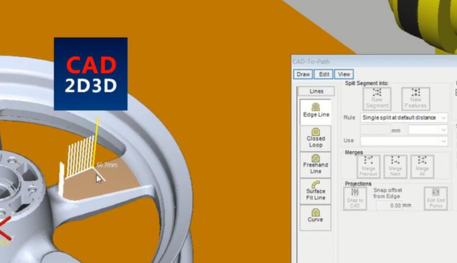 FANUC机器人离线编程,三维直接生成路径,复杂零件快速生成打磨、焊接等路径程序
