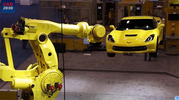 日本制造,世界上最大的6轴机器人,负载2.3吨,无人能及