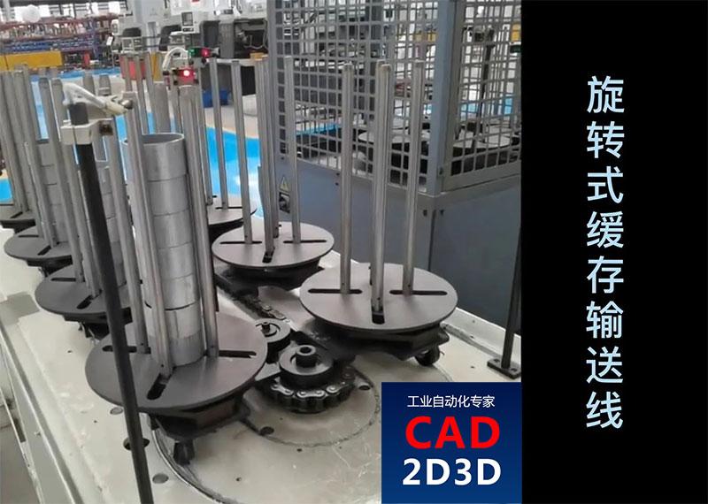 旋转式缓存输送线,适合机器人取放件,自动化生产线必备