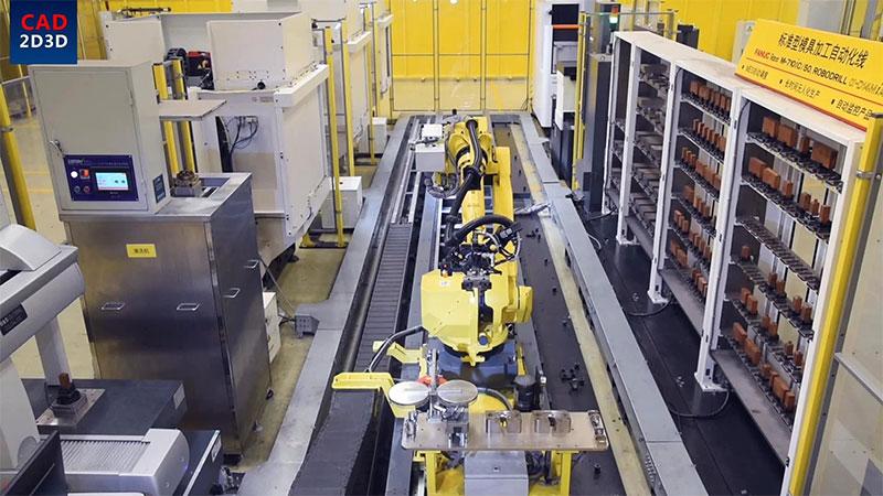 日本公司做的机加工生产线,代表了当前机加工自动化最高水准!
