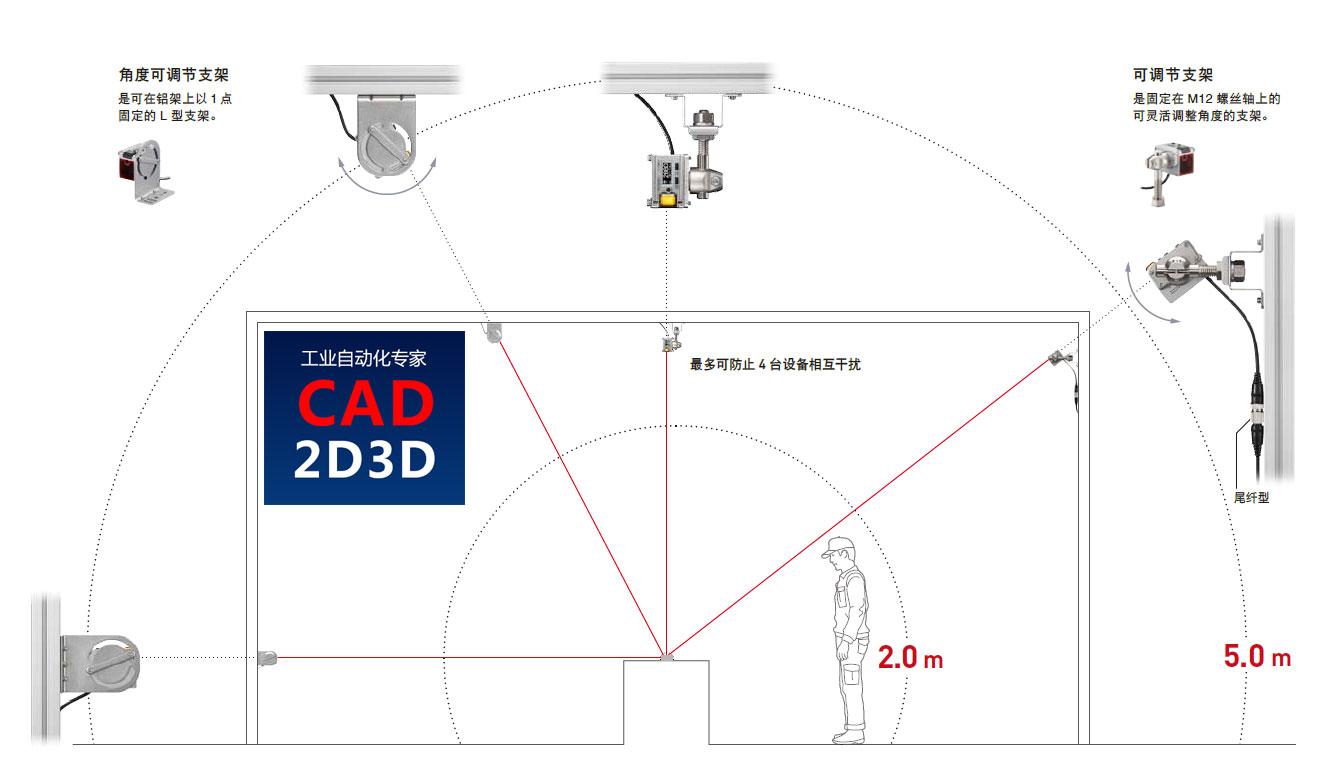600℃铝合金溶液液面高度检测仪,激光位移传感器,检测距离0.06-5米,重复精度3mm