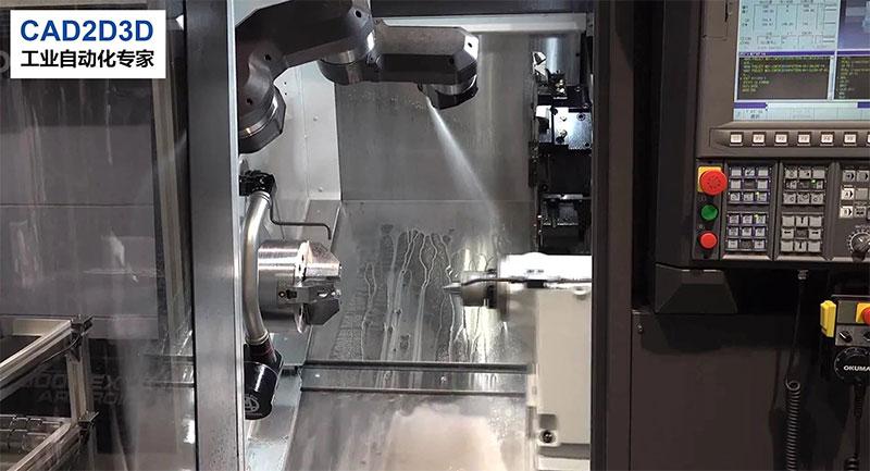 日本机床逆天了,直接内置机器人,自动吹扫刀具和夹具上的铁屑