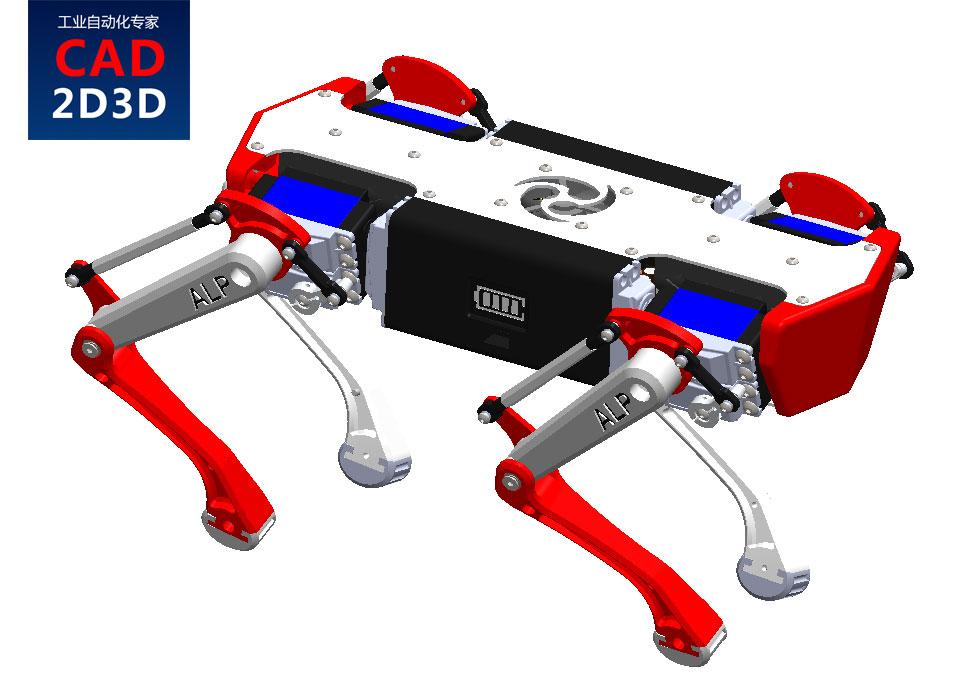 机械狗3D模型免费下载,STEP通用格式,波士顿动力机械狗