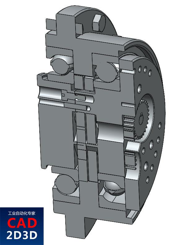 RV减速机3D模型免费下载,SolidWorks源文件,含stp通用3D格式