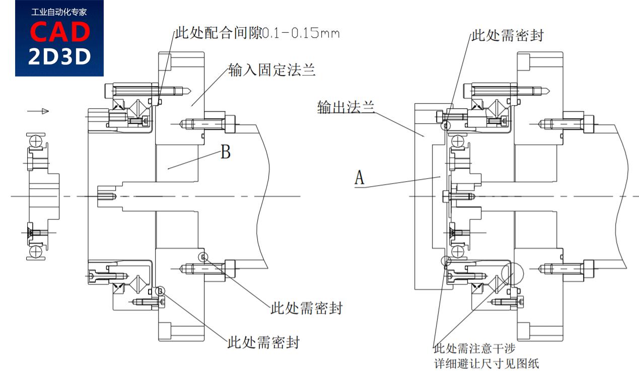谐波减速器内部结构及安装说明